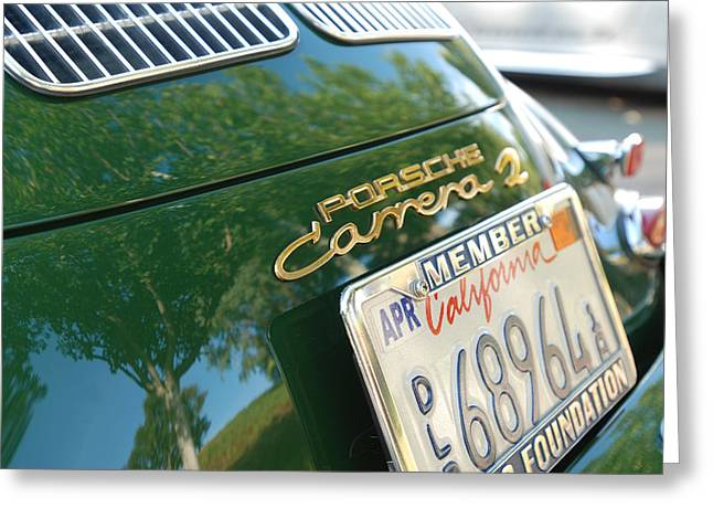 Nine Eleven Greeting Cards - Porsche Carrera S Rear Close Up Greeting Card by Nomad Art And  Design