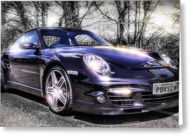 Californian Greeting Cards - Porsche Greeting Card by Ian Hufton