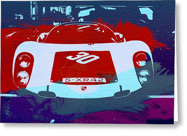 Concept Photographs Greeting Cards - Porsche Le Mans Racing Greeting Card by Naxart Studio