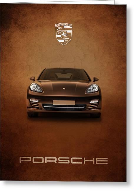 Porsche Greeting Cards - Porsche Panamera Greeting Card by Mark Rogan