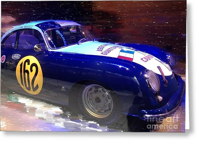 Rally Mixed Media Greeting Cards - Porsche Rally Greeting Card by Robert Wek