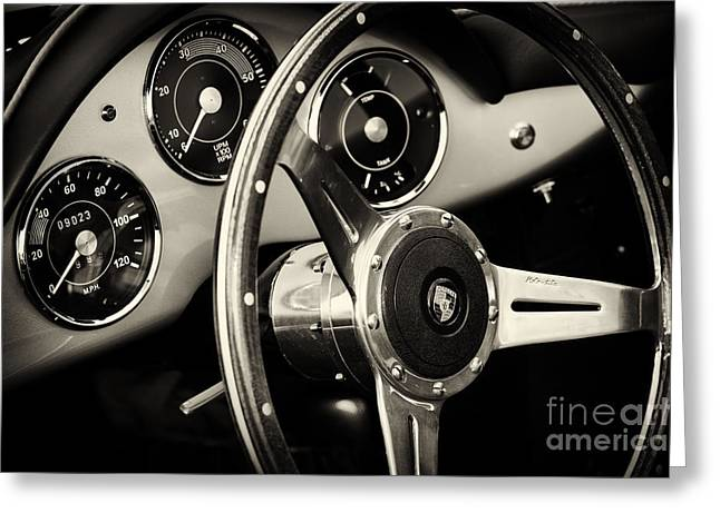 Dash Greeting Cards - Porsche Speedster Greeting Card by Tim Gainey