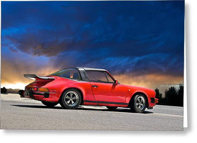 High-performance Luxury Car Greeting Cards - Porsche Targa Greeting Card by Dave Koontz