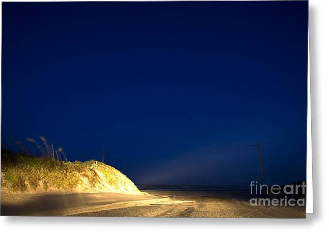 Beach At Night Greeting Cards - Port A Greeting Card by John Cooper