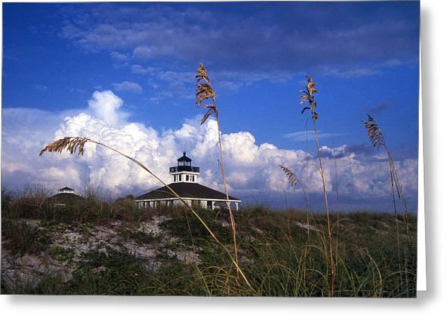 Boca Grande Greeting Cards - Port Boca Grande Lighthouse Greeting Card by Skip Willits