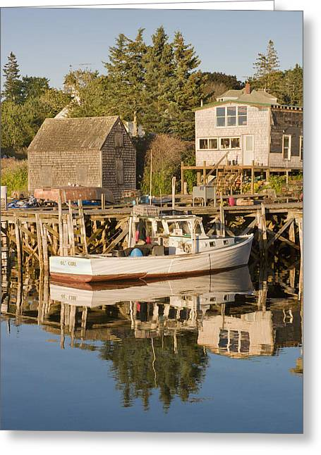 Port Clyde Maine Boats And Harbor Greeting Card by Keith Webber Jr