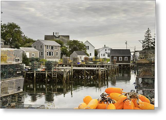 Maine Greeting Cards - Port Clyde on The Coast Of Maine Greeting Card by Keith Webber Jr