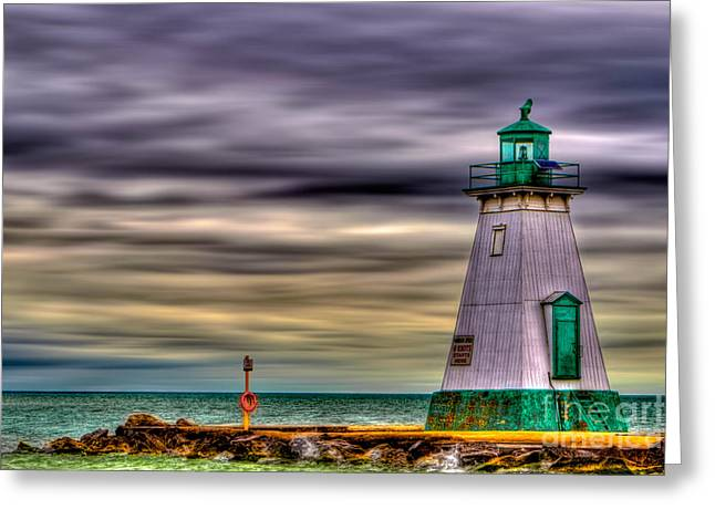 Port Dalhousie Lighthouse Greeting Card by Jerry Fornarotto