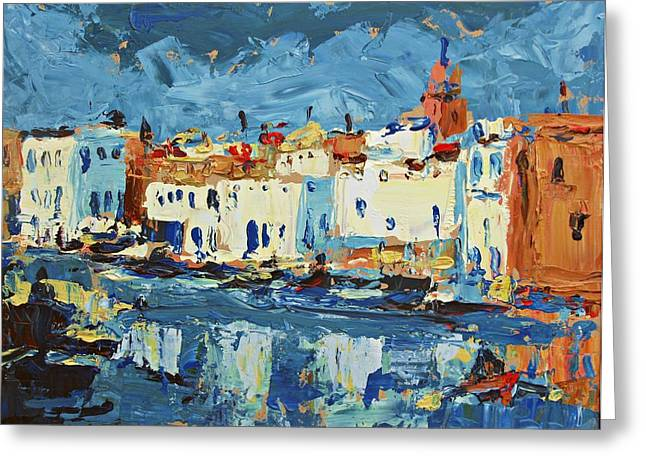 Port De Bizerte Greeting Card by Brian Simons
