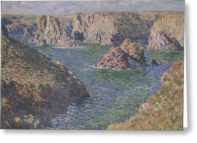 Belles Paintings Greeting Cards - Port-domois, Belle-isle, 1887 Greeting Card by Claude Monet