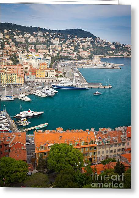 Docked Sailboats Greeting Cards - Port du Nice Greeting Card by Inge Johnsson