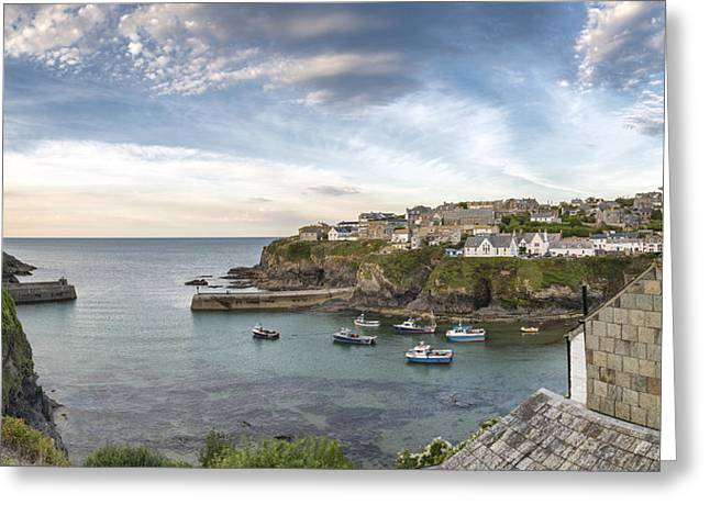 Kernow Greeting Cards - Port Isaac in Cornwall Greeting Card by Helen Hotson