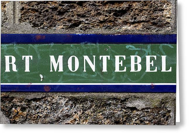 Montebello Greeting Cards - Port Montebello Greeting Card by Nomad Art And  Design