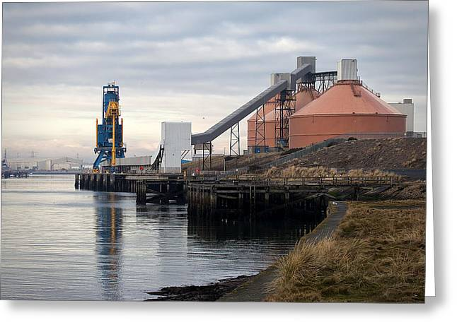 Blyth Greeting Cards - Port of Blyth Greeting Card by Jim Jones