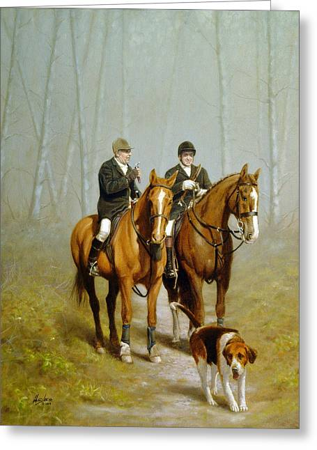 Equestrian Prints Greeting Cards - Port of call Greeting Card by John Silver