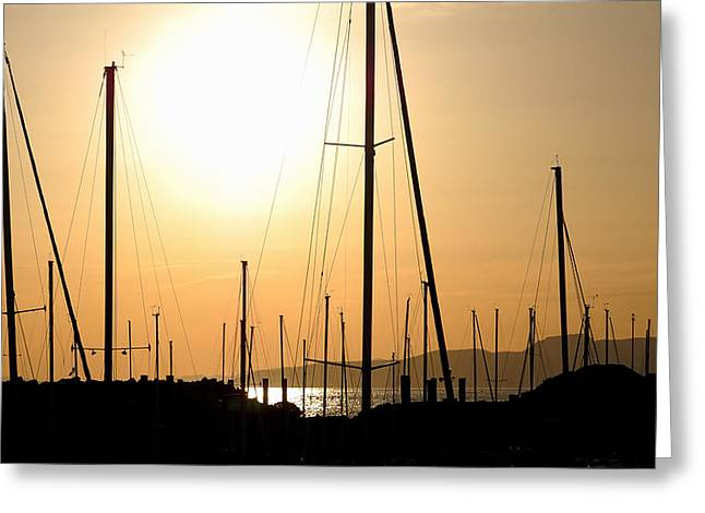 Boats At Dock Greeting Cards - Port Of Call - The Great Salt Lake Greeting Card by Steven Milner