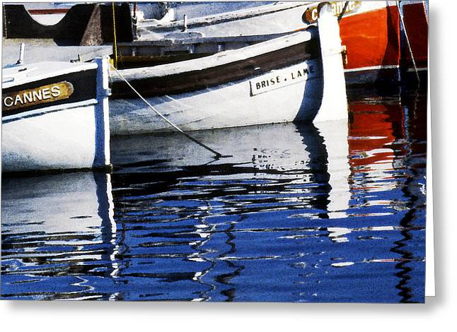 Yachting Pastels Greeting Cards - Port of Cannes Greeting Card by Selke Boris