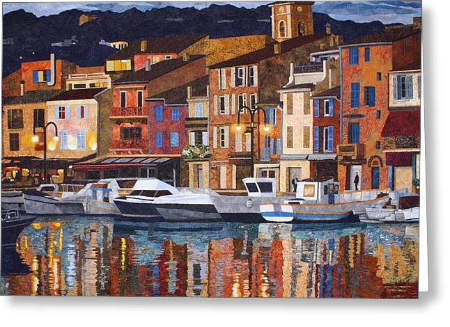 France Tapestries - Textiles Greeting Cards - Port of Cassis Greeting Card by Lenore Crawford