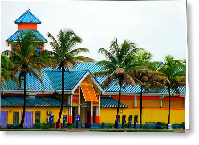 Cruise Terminal Greeting Cards - Port Of Nassau Greeting Card by Randall Weidner