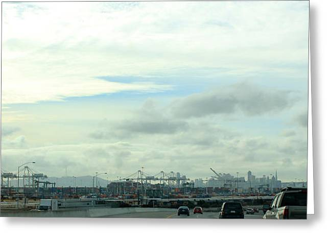 Photogrpah Greeting Cards - Port of Oakland and San Francisco Greeting Card by Ron McMath