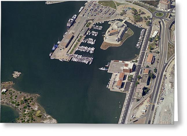 Boat Cruise Greeting Cards - Port Of Olbia Greeting Card by Blom ASA