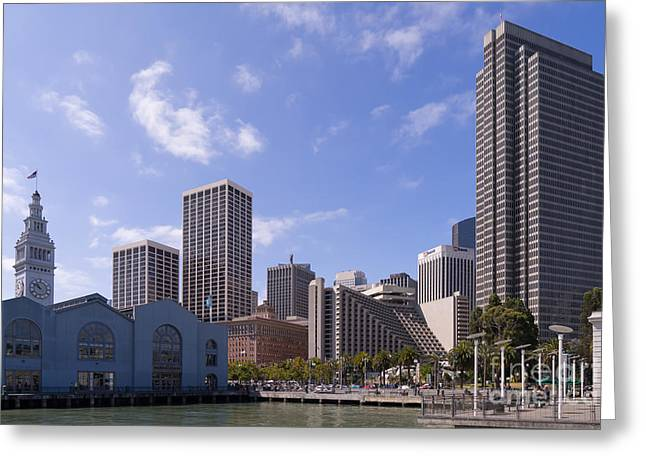 Port Of San Francisco Greeting Cards - Port of San Francisco Ferry Building on The Embarcadero DSC1565 Greeting Card by Wingsdomain Art and Photography