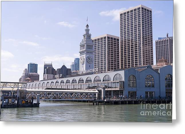 Port Of San Francisco Greeting Cards - Port of San Francisco Ferry Building on The Embarcadero DSC1568 Greeting Card by Wingsdomain Art and Photography