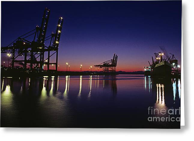 Commencement Bay Greeting Cards - Port Of Tacoma Greeting Card by Jim Corwin