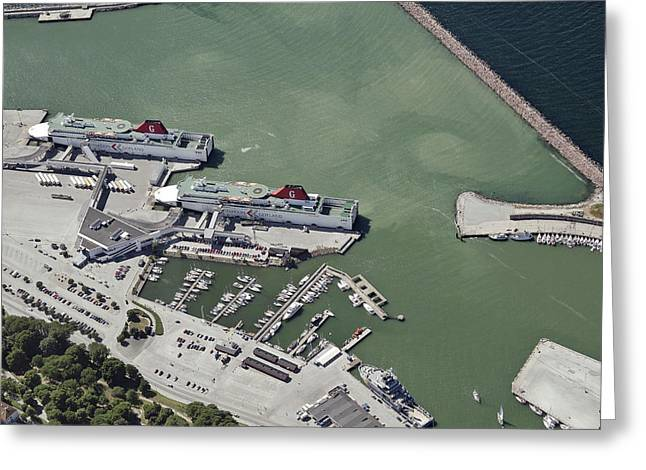 Boat Cruise Greeting Cards - Port Of Visby Greeting Card by Blom ASA