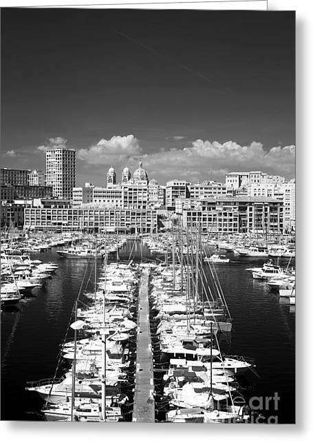 Azur Greeting Cards - Port Parking Only Greeting Card by John Rizzuto