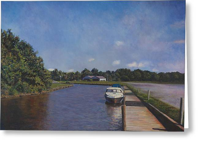 Md Paintings Greeting Cards - Port Tobacco Marina Greeting Card by David P Zippi