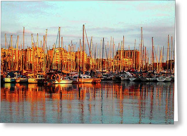 Spiegelung Greeting Cards - Port Vell - Barcelona Greeting Card by Juergen Weiss