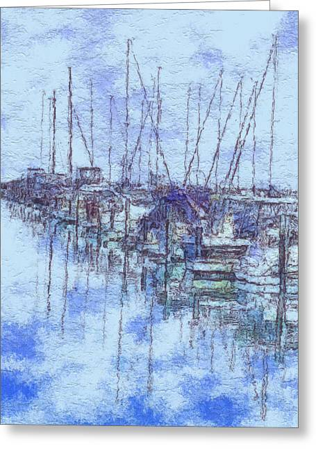 Sailboat Photos Greeting Cards - Milwaukee Lakefront Marina Greeting Card by Jack Zulli