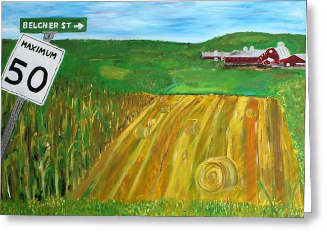 Sutton Farm Greeting Cards - Port Williams  Greeting Card by Mark Stiles