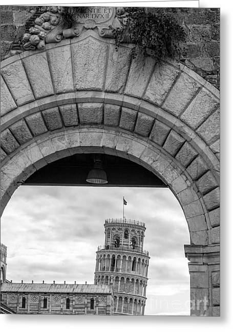 Pisa Greeting Cards - Porta di Pisa Greeting Card by Prints of Italy