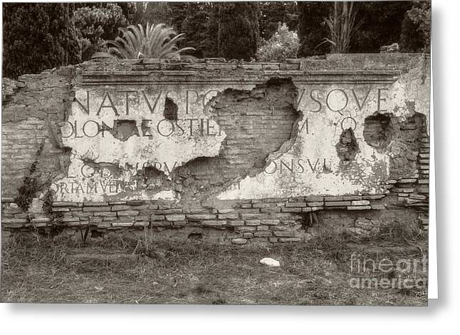 Missing Greeting Cards - Porta Romana in Sepia Greeting Card by Prints of Italy