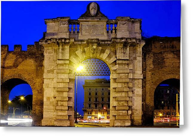 Lateran Greeting Cards - Porta San Giovanni Greeting Card by Fabrizio Troiani
