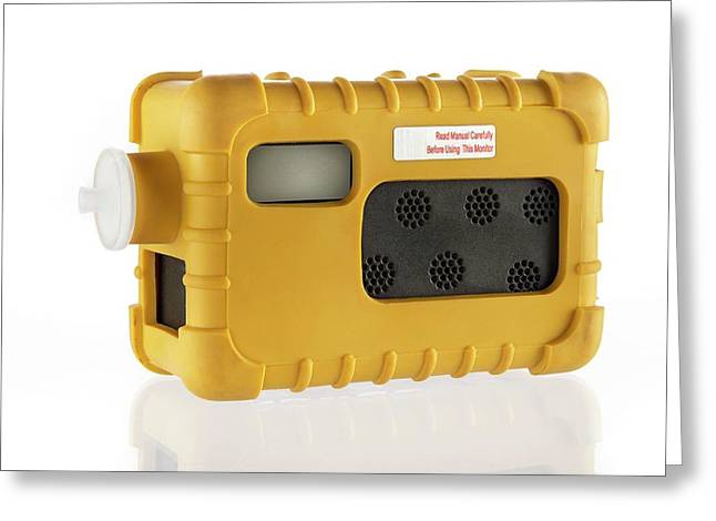 Portable Gas Detector Greeting Card by Crown Copyright/health & Safety Laboratory Science Photo Library