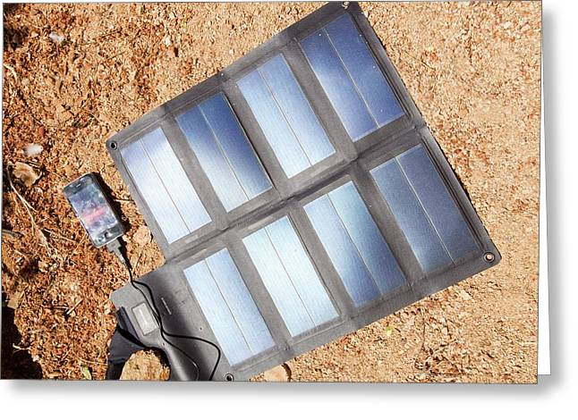 Portable Solar Mat Greeting Card by Ashley Cooper