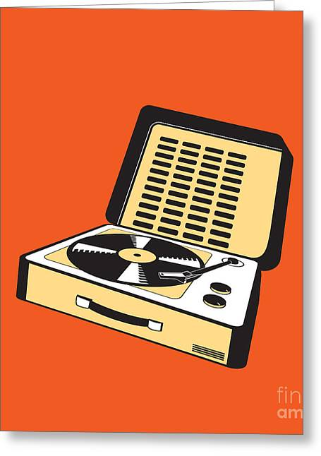Portable Greeting Cards - Portable Turntable Greeting Card by Igor Kislev