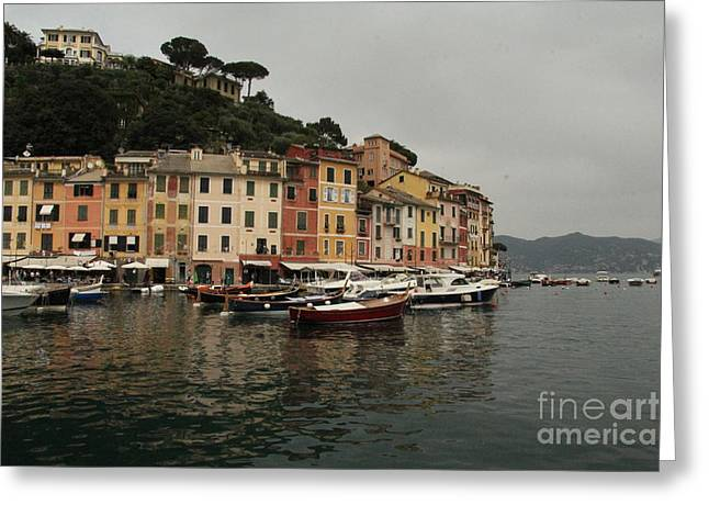 Portofino Italy Photographs Greeting Cards - Portafino Italy  Greeting Card by Diane  Greco-Lesser