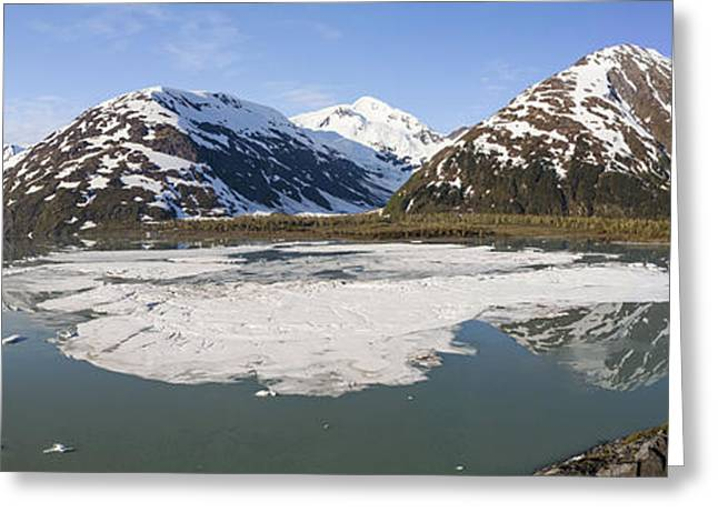 Nature Center Pond Greeting Cards - Portage Lake Panorama Greeting Card by Tim Grams