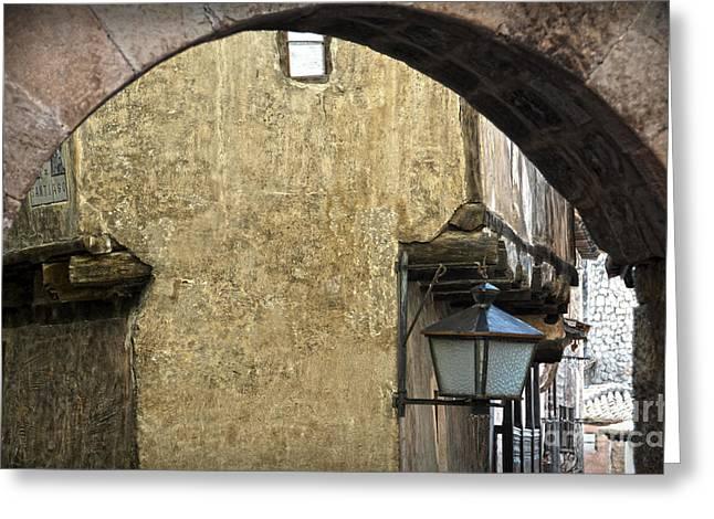 Teruel Greeting Cards - Portal de Molina and Casa de la Julianeta Greeting Card by RicardMN Photography
