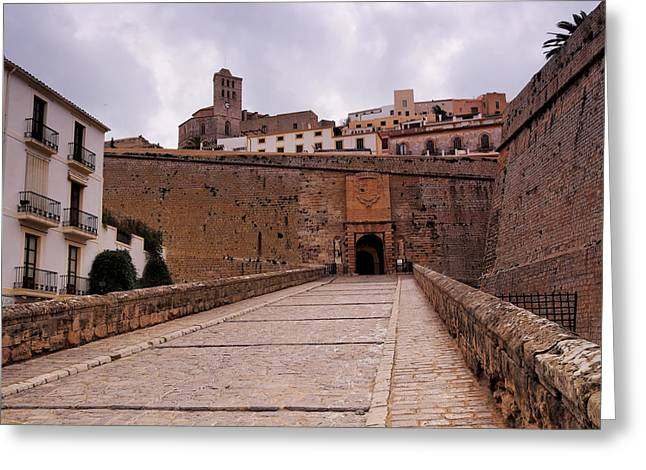 Dalt Greeting Cards - Portal de ses Taules in Ibiza Town Greeting Card by Karol Kozlowski