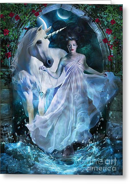 Ghostly Greeting Cards - Portal Greeting Card by Drazenka Kimpel