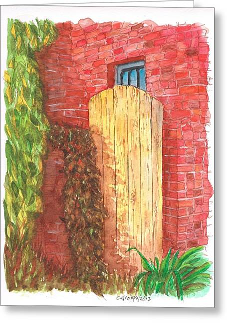 Portal Paintings Greeting Cards - Portal in Plummer Park-West Hollywood-California Greeting Card by Carlos G Groppa
