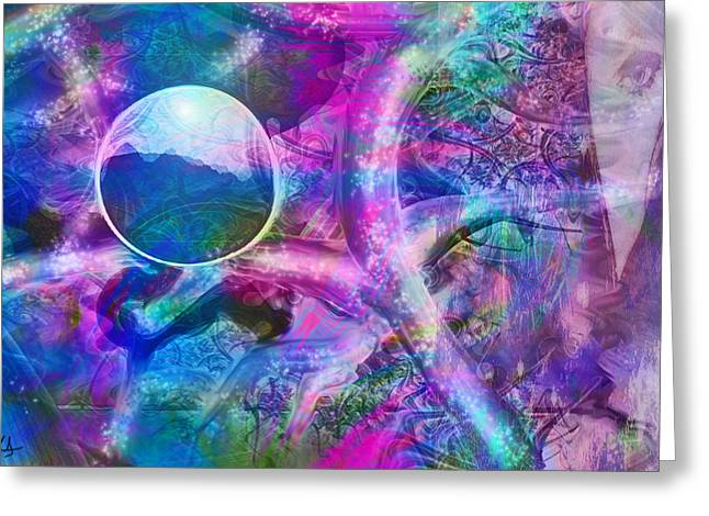 Portal Digital Greeting Cards - Portal Greeting Card by Linda Sannuti