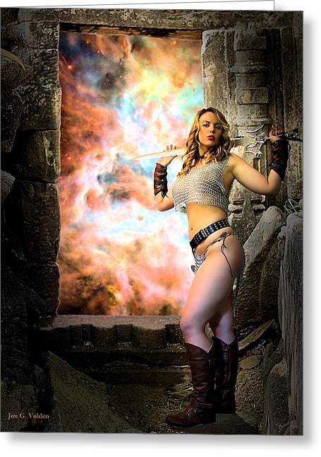 Dungeons Greeting Cards - Portal Of Magic Greeting Card by Jon Volden