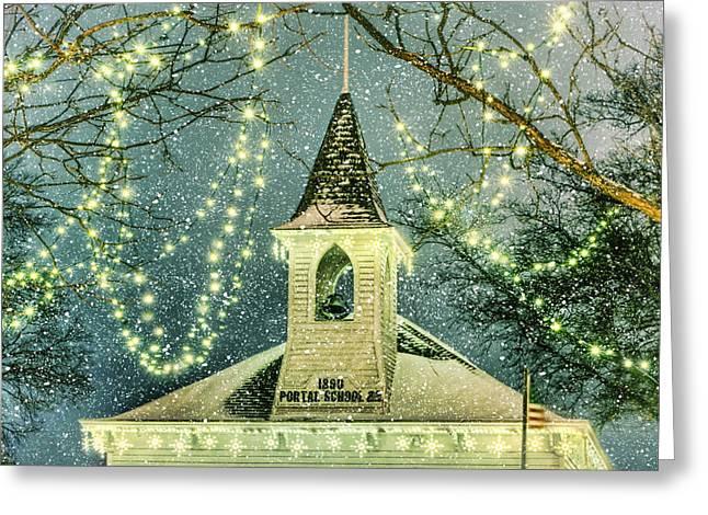Schoolhouse Greeting Cards - Portal School 22 #3 Greeting Card by Nikolyn McDonald