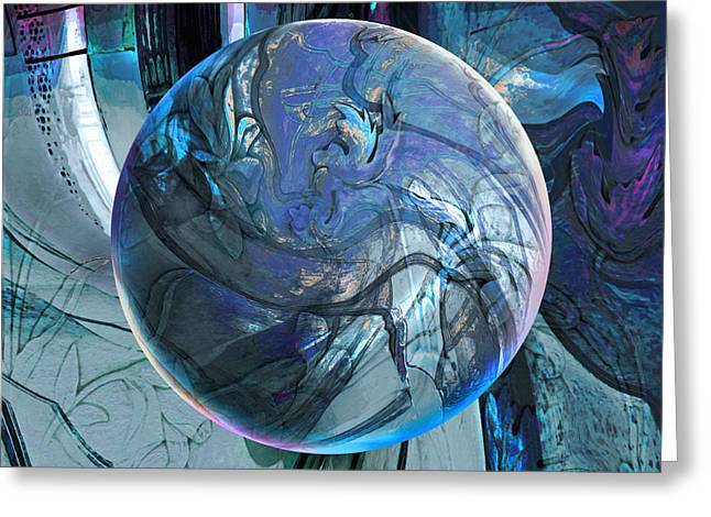 Portal To Divinity Greeting Card by Robin Moline